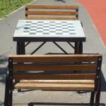 Masă de șah cu două bănci SA01