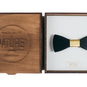 Papion din lemn Famous Gold