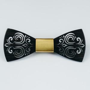 Papion din lemn Black Mistery (Gold)