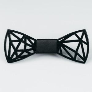 Papion din lemn Diamond (All Black)