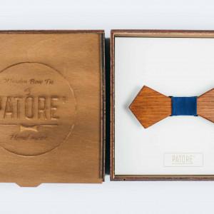 Papion din lemn Dimanate Navy Blue
