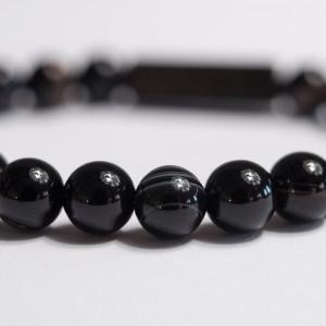 Bratara Premium Black Agate