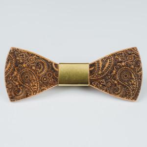 Papion din lemn Scrappy Gold