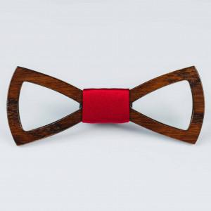 Papion din lemn Tagliato Red