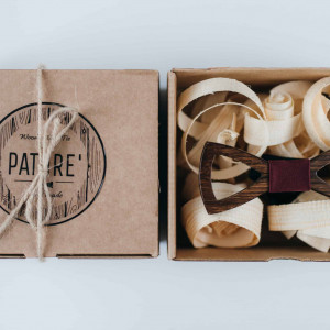 Papion din lemn Tagliato Bordeaux