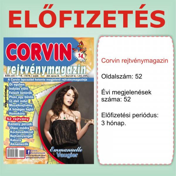Előfizetés - Corvin rejtvénymagazin - 3 hónap - Romániába