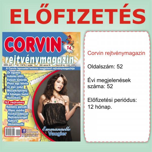 Előfizetés - Corvin rejtvénymagazin - 12 hónap - Romániába