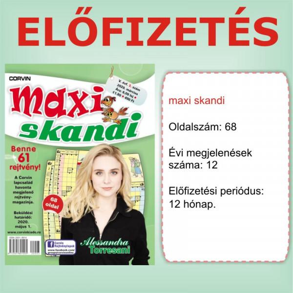 Előfizetés - Maxi Skandi - 12 hónap - Romániába