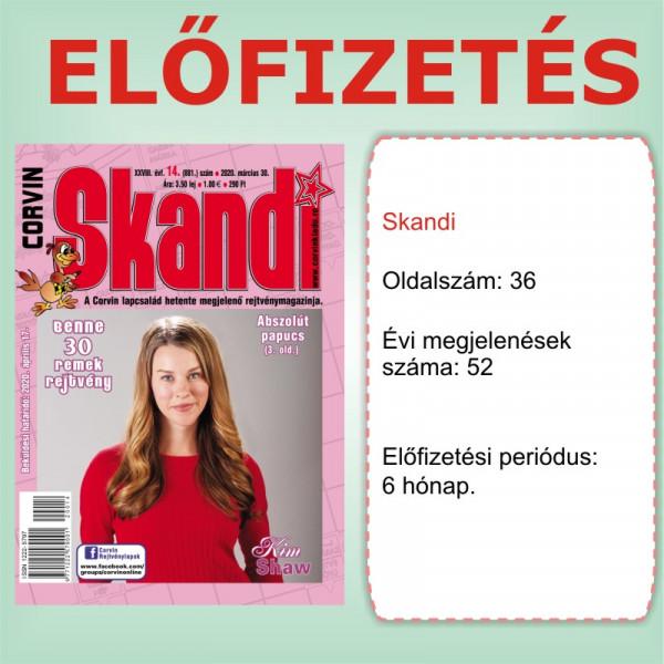 Előfizetés - Skandi - 6 hónap - Romániába