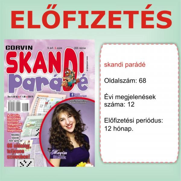 Előfizetés - Skandi Parádé- 12 hónap - Romániába