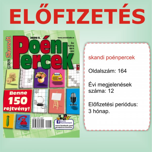 Előfizetés - Skandi Poénpercek - 3 hónap - Romániába
