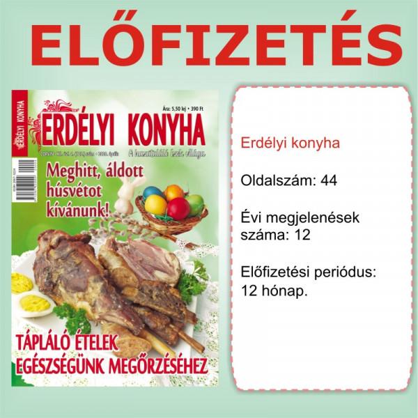 Előfizetés - Erdélyi Konyha - 12 hónap - Romániába