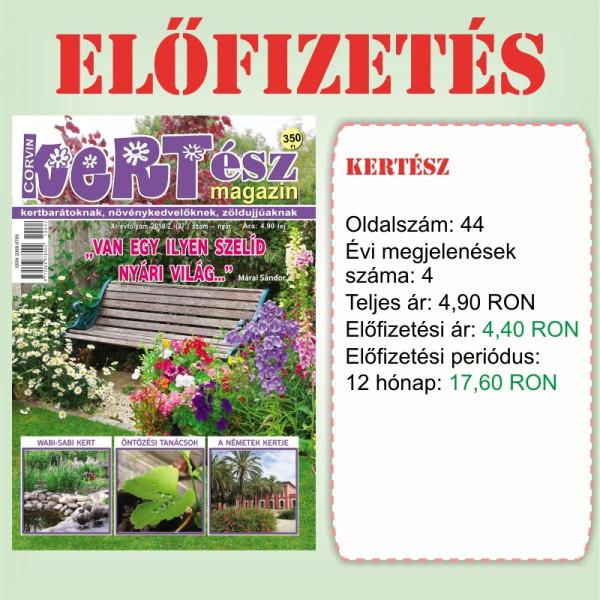 Előfizetés - KERTész - 12 hónap - Romániába