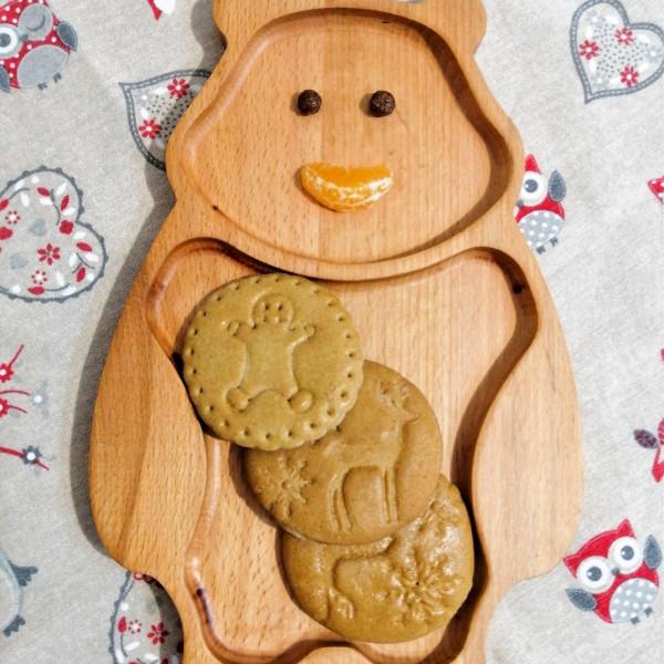 Platou din lemn pentru copii - Ursuleț