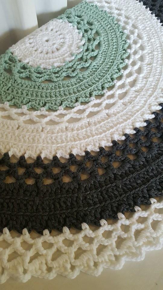 1cf5227a363 Giant Doily Crochet Carpet in Dark Grey
