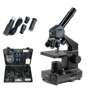 Microscop biologic Student 12 cu camera (64-640x) pentru copii