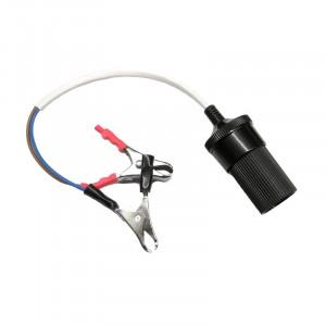 Cablu de tensiune cu clesti si adaptor bricheta auto